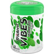 Trident Vibes Sugar Free Gum, Spearmint Rush Flavor, 1 Go-Cup (40 Pieces Total)