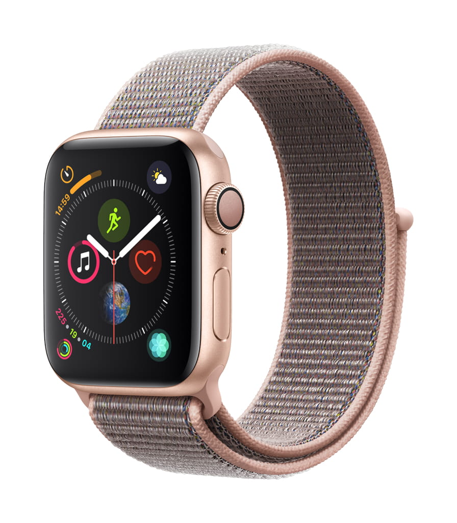 Apple�Watch Series�4 GPS 40mm Gold Aluminum Case Pink Sand Sport Loop by Apple