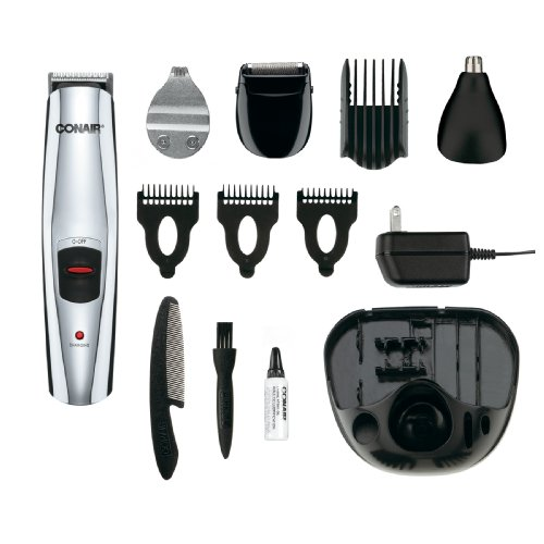 Conair 13-Piece Rechargeable Beard/Mustache Professional Multi-Use Trimmer