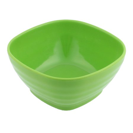 Plastic Square Shape Tableware Cereal Fruits Salad Dinner Bowl (Yellow Kitchen Bowl)