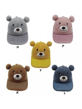 MarinaVida Boys Girls Adjustable Cartoon Print Bear Ear Design Visors