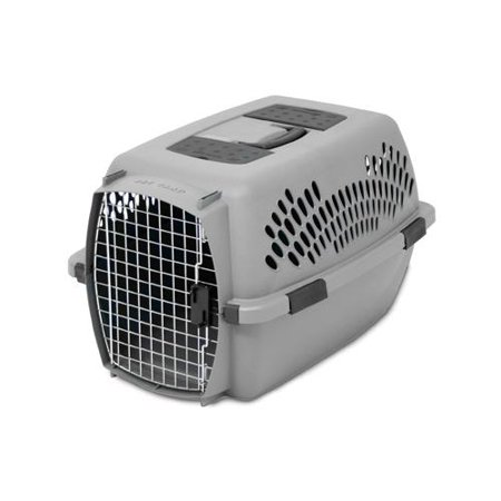 Petmate Pet Carriers - Petmate 21085 Pet Carrier, Light Gray, For 15-20-Lbs.