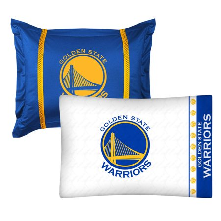 NBA Warriors Pillow Sham Pillowcase Set Basketball Bedding