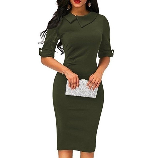Vista Women Spring Summer Turn Down Collar Fit Work Dress Vintage Elegant Business Office Pencil Bodycon Mini Dress Walmart Com Walmart Com 68+ floral dresses boutique idea. women spring summer turn down collar fit work dress vintage elegant business office pencil bodycon mini dress