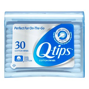 Q-Tips Cotton Swabs Purse Pack For Makeup Application - 30 Ea