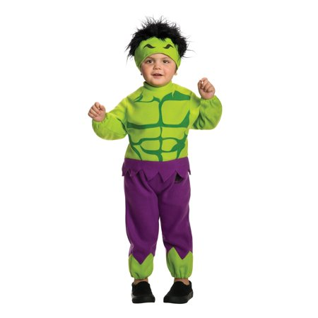 Toddlers Marvel Comics Avengers Fleece The Hulk Costume Size 2T-4T