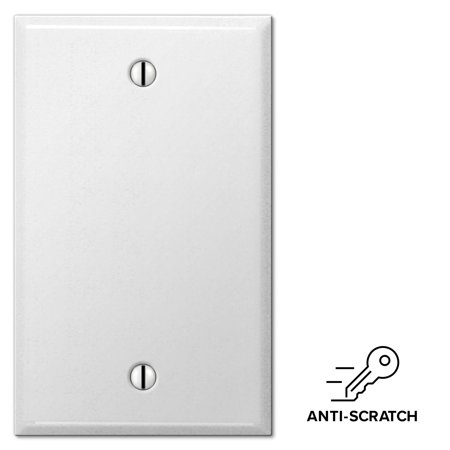 Smooth White Steel Blank Wall Switch Plate Outlet Cover, Anti Scratch Steren White Blank