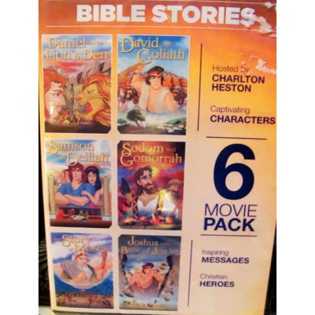 Lions Den Bible (Bible Stories - Daniel and the Lion's Den 6 Movie Pack DVD David, Samson, Sodom, Moses,)