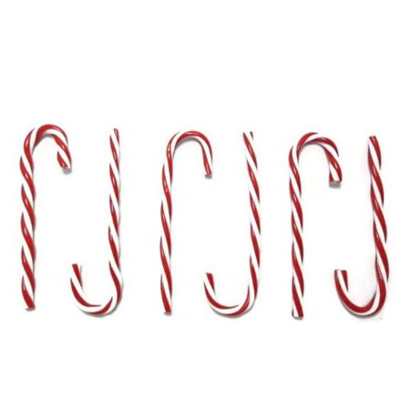 Plastic Candy Cane Ornaments, Red and White -6-ct. Packs By Christmas House (Plastic Christmas Ornaments)