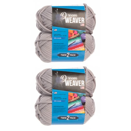 Dream Weaver Yarn (4 Pack) Solid Color 100% Acrylic Soft Yarn For Knitting Crocheting Bulky #5 - Dream Weavers