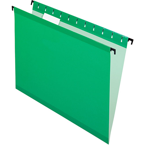 Pendaflex SureHook Hanging File Folders, Legal, Bright Green, Box of 20