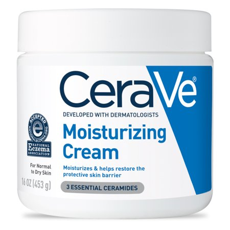 CeraVe Moisturizing Cream, Face and Body Moisturizer, 16 (Best Mens Body Moisturiser)
