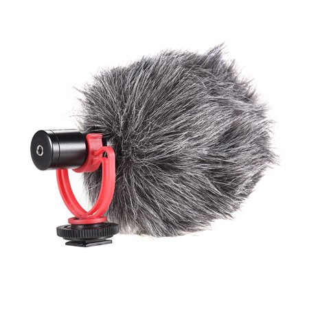 Andoer AD-M2 Cardioid Directional Condenser Microphone Metal Construction Video Mic 3.5mm Plug for 6/ 6plus for Huawei Smartphone Tablet PC for Canon Nikon Sony DSLR Camera Consumer Camcorder Audio - image 2 de 7