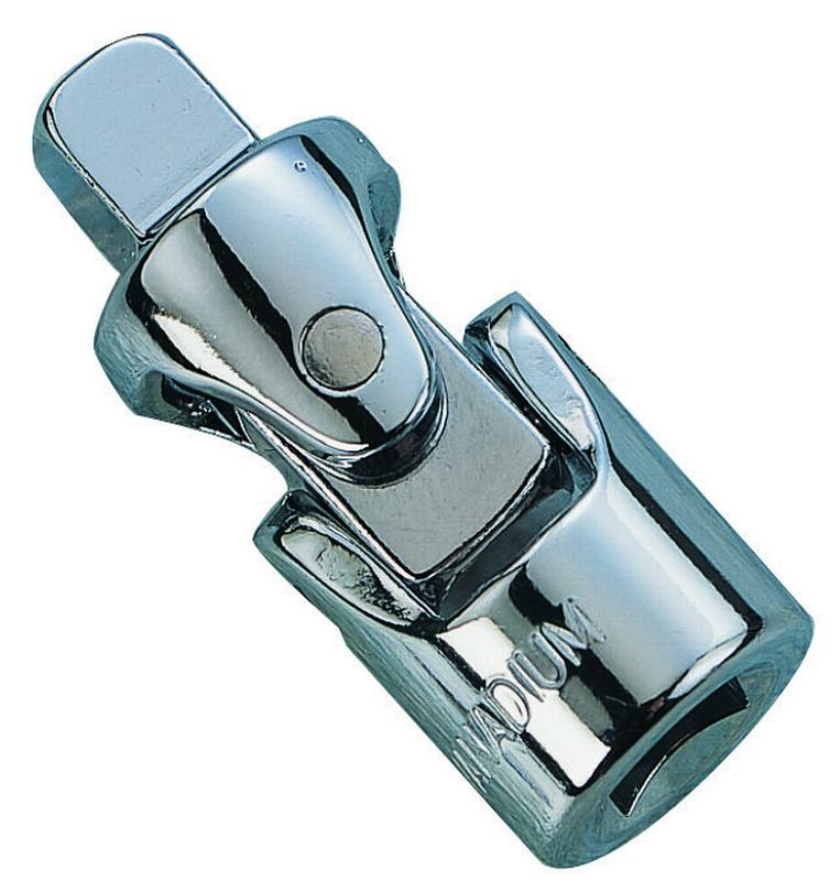 """Vulcan Universal Joint, 1/4 in Drive, Chrome Vanadium Steel, Chrome"""