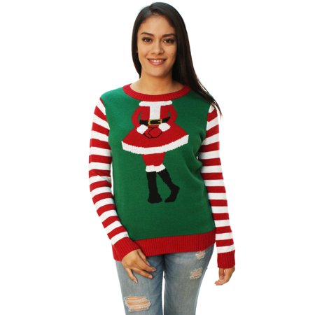 ugly christmas sweater womens mrs claus outfit sweater - Ugly Christmas Sweaters At Walmart