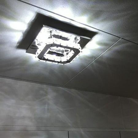 Silverwhite crystal ceiling light led pendant lamp flush mount silverwhite crystal ceiling light led pendant lamp flush mount chandelier ceiling lamp aloadofball Gallery