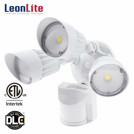 Head Motions Offer Better Way To Detect >> Leonlite 30w 3 Head Security Lights Motion Activated Led Outdoor