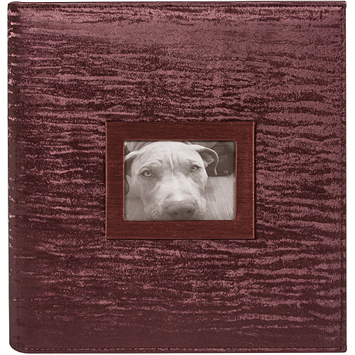 "8.5"" x 11"" 3 Ring Photo and Scrapbook Album, Bordeaux"