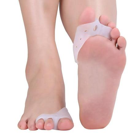 Gel Toe Separators, HERCHR Silicone Toe Loop Toe Orthopedic Braces Daily Care Toe Big Bone, Breathable Toe Straightener Spacers, Tailors Bunion Pain