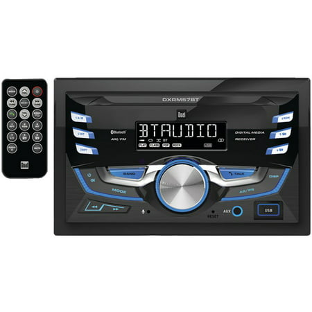 - Dual Dxrm57bt Double-din In-dash Mechless Am/fm Receiver With Bluetooth