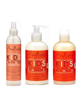 Shea Moisture Kids Hair Care Combination Pack – Includes Mango & Carrot 8oz KI..