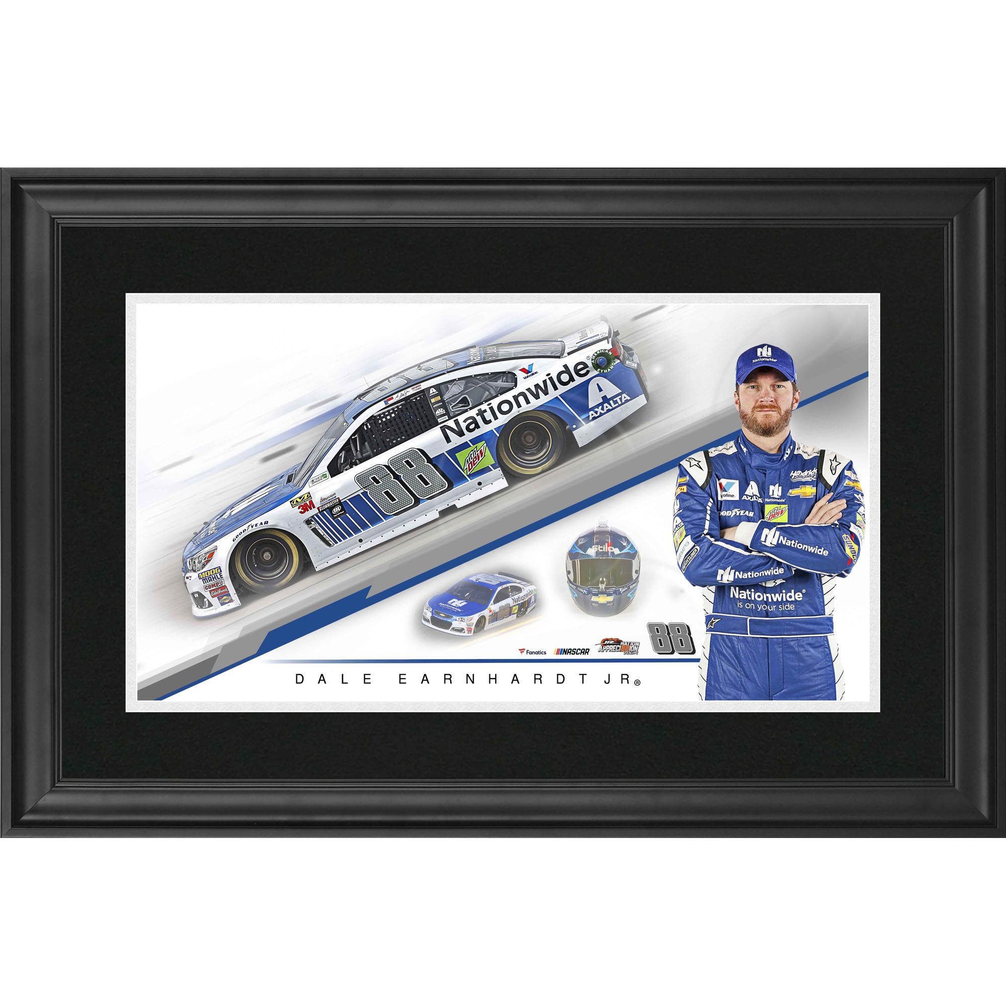 "Dale Earnhardt Jr. Fanatics Authentic Framed 10"" x 18"" Nationwide Panoramic Photograph - No Size"