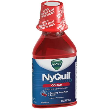 Vicks Cough Relief Liquid Cherry, 8 FL OZ (Pack of 6)