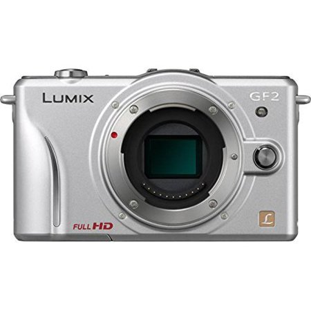 Panasonic Lumix DMC-GF2 Digital Micro Four Thirds Camera Body (Silver) (International Model No