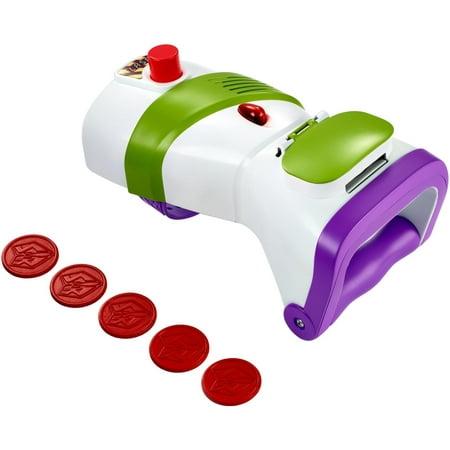 Disney Pixar Toy Story Buzz Lightyear Rapid Disc Launcher - Foam Disc Shooter