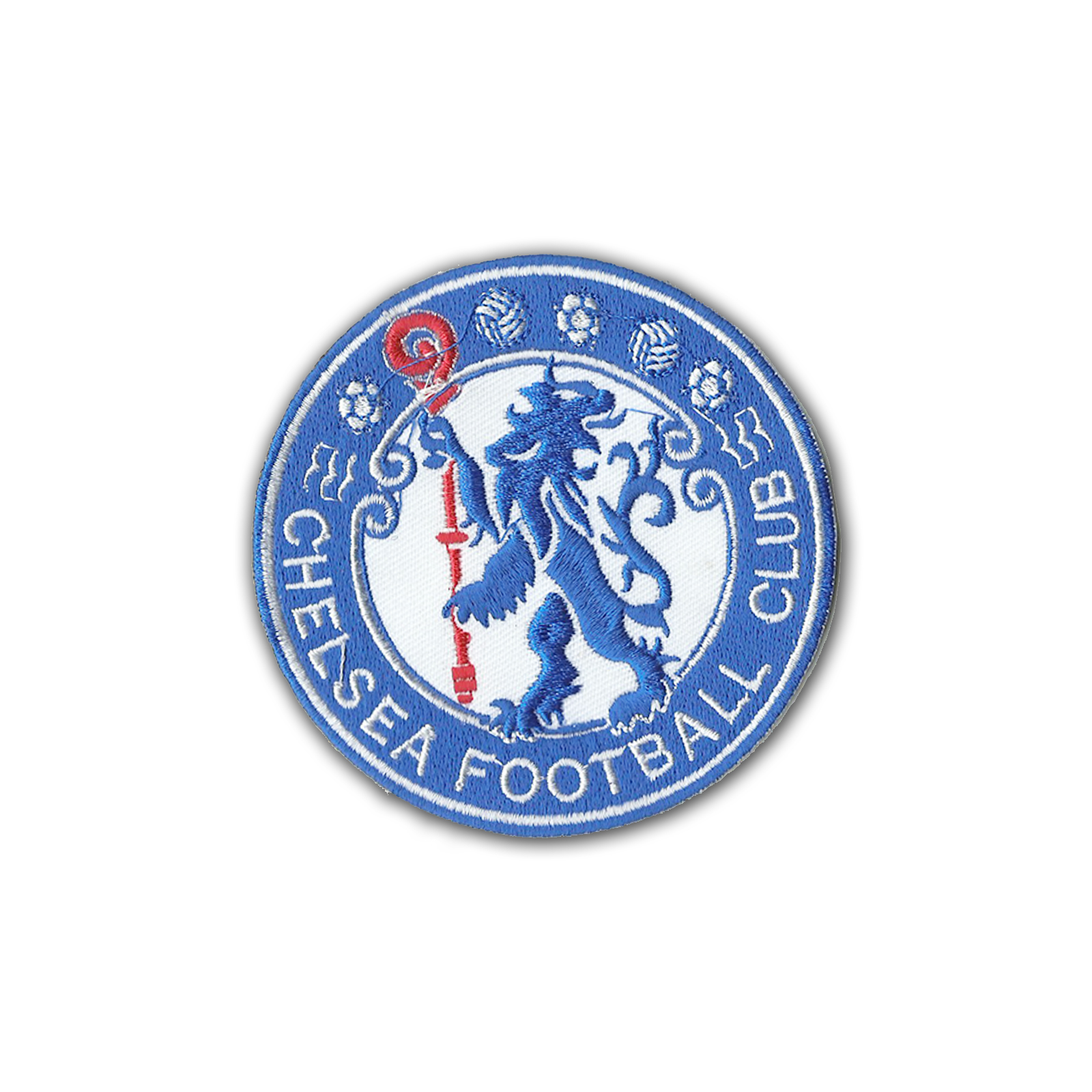 "Chelsea League Premier League Football Club logo Jacket T Shirt Embroidered Patch 3.5"" inch Logo Sew Ironed On Badge Embroidery Applique Patch"