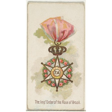 N30 Art - The Imperial Order of the Rose of Brazil from the Worlds Decorations series (N30) for Allen & Ginter Cigarettes Poster Print (18 x 24)