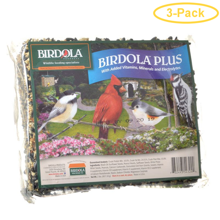 Birdola Plus Seed Cake Large - 2 lbs - Pack of 3