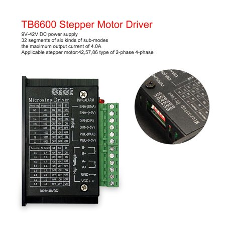 TB6600 4.0A Stepper Motor Driver 42/57/86 32 Segments Upgraded Version 42VDC for CNC Router machine Engraving Drilling - image 7 of 8