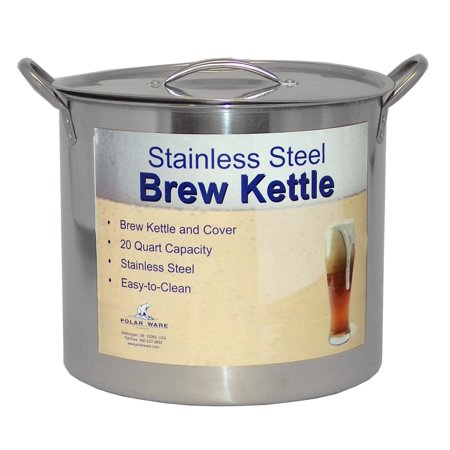 30 Qt Stainless Steel Stock Pot Without Basket By Polar Ware
