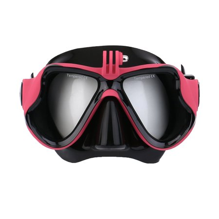 Underwater Camera Plain Diving Mask Scuba Snorkel Swimming Goggles For GoPro Red M