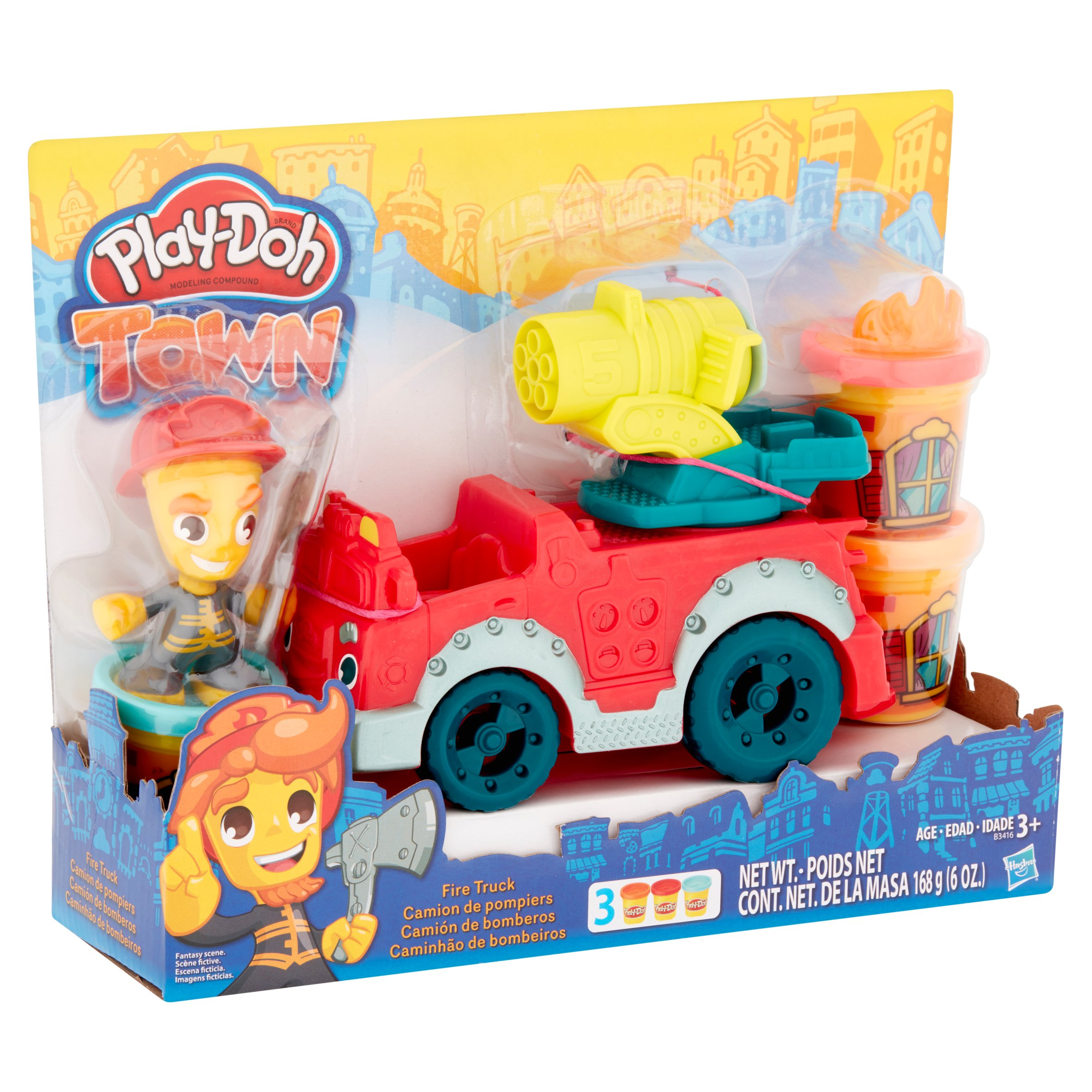 Hasbro Play-Doh Town Fire Truck Modeling Compound 3+, 6 oz ...