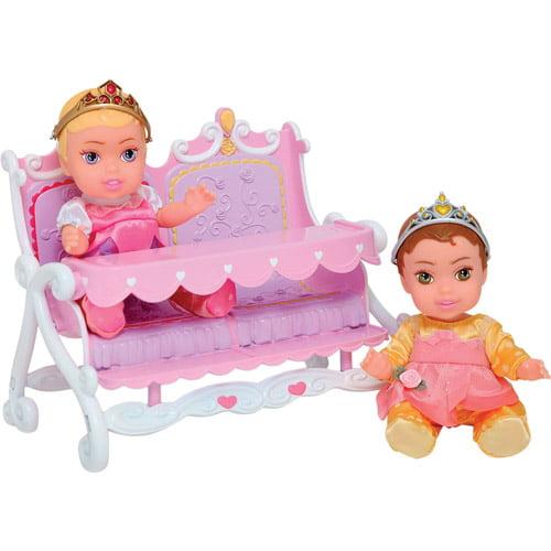 Disney Princess Twin Dolls with Accessory, Aurora/Belle