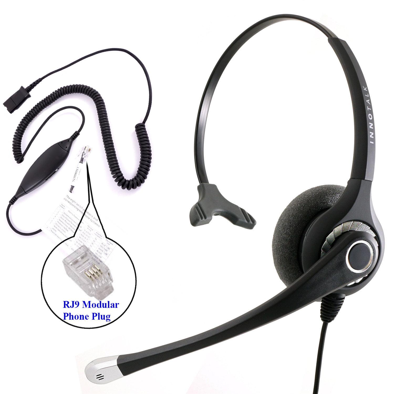 Office Phone Headset Best Sound Deskphone Headset Cisco Avaya Panasonicand Most Phones Virtual Compatibility Rj9 Headset Adapter Built In Plantronics Compatible Qd Walmart Com Walmart Com