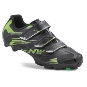 Northwave, Scorpius 2 , MTB shoes, Black/Green Fluo, 43