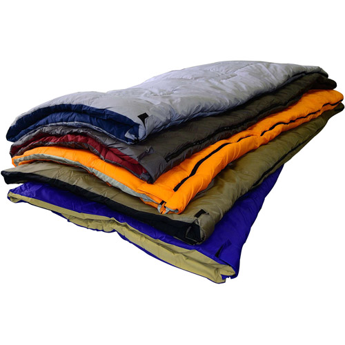 Chinook Collage Rectangular Sleeping Bag, Assorted Colors