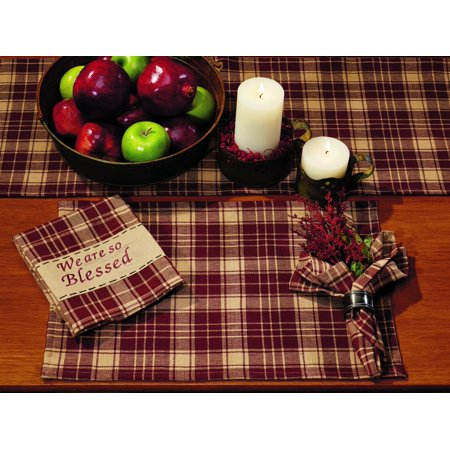 Heritage Check Wine Placemat - Wine Chick