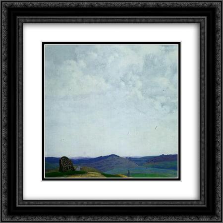 Nicholas Roerich 2X Matted 20X20 Black Ornate Framed Art Print The Straight Path