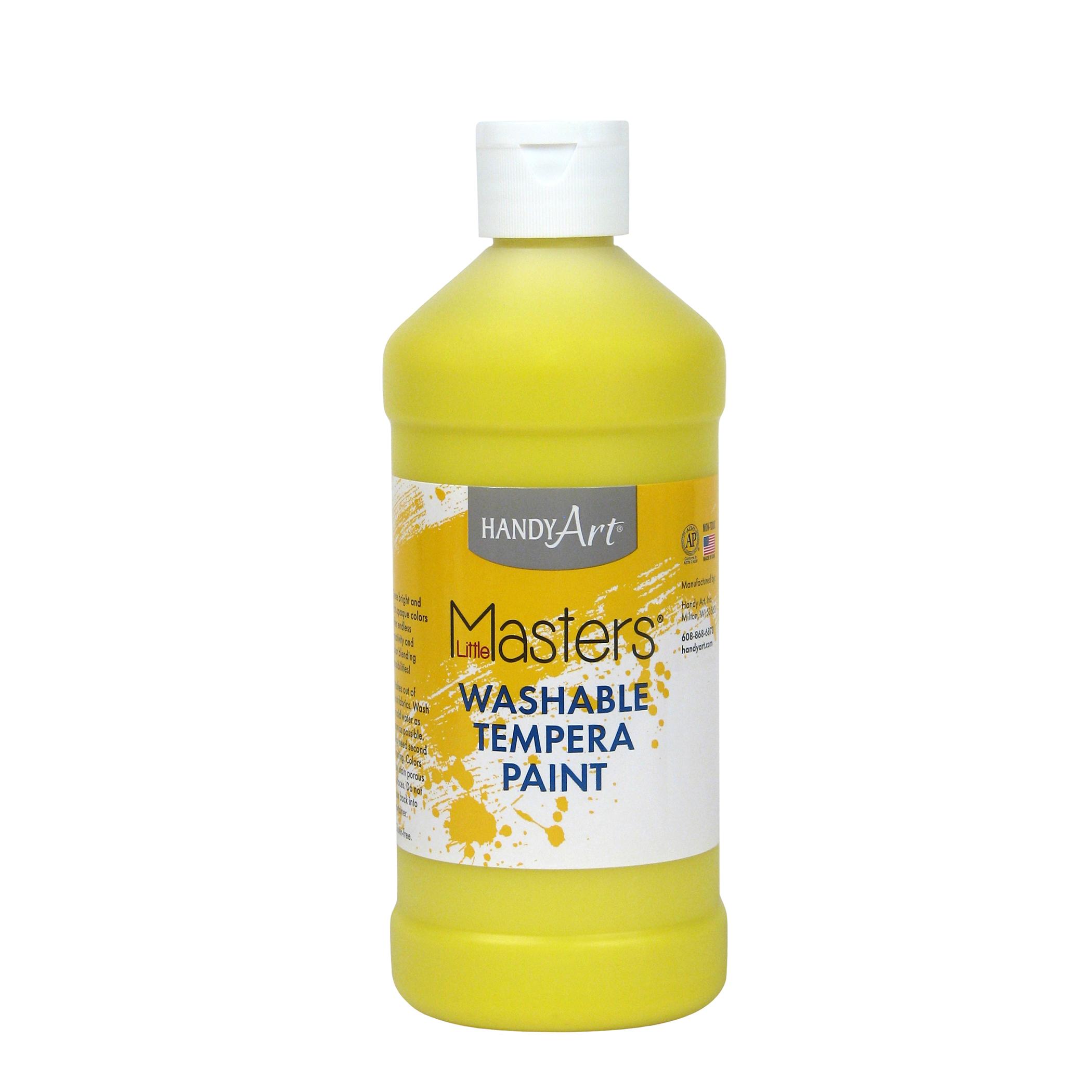 Little Masters™ Washable Paint, Yellow, 16 oz., Set of 12 bottles