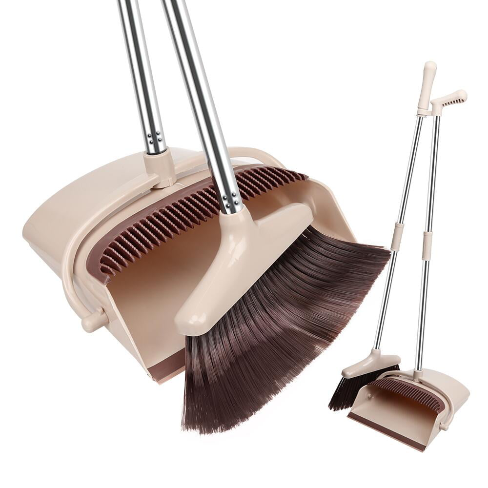 Fgy Broom And Dustpan Set Standing Upright Dust Pan W