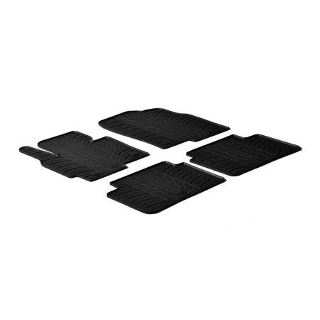 Gledring GL-0218 All Weather Rubber Floor Mats - 2013-2016.5 Mazda CX-5 - 4 Piece Set - Black