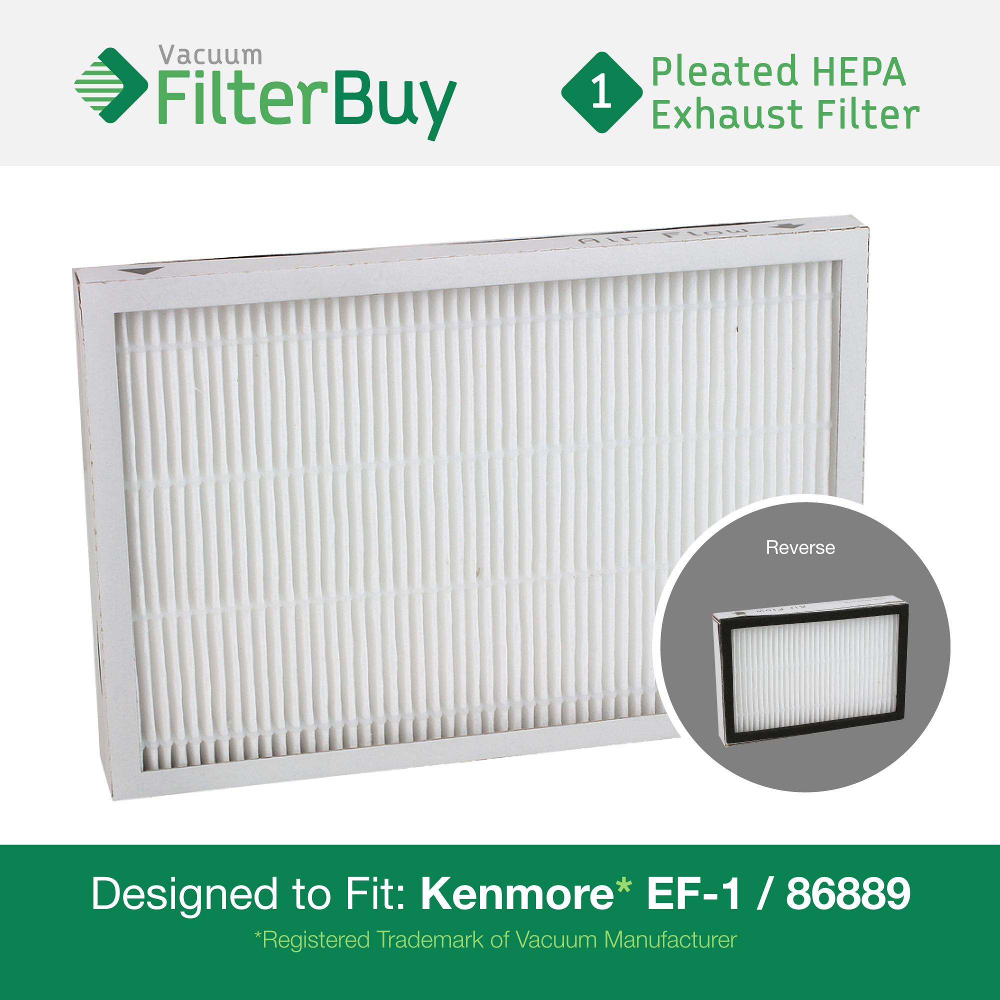 kenmore ef-1 86889 exhaust vacuum hepa filter. designed by filterbuy ...