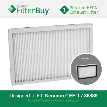 Kenmore Ef 1 86889 Exhaust Vacuum Hepa Filter  Designed By Filterbuy To Replace Sears Kenmore Part   20 86889  86889   40324  Ef1  Also Replaces Panasonic Mc V199h