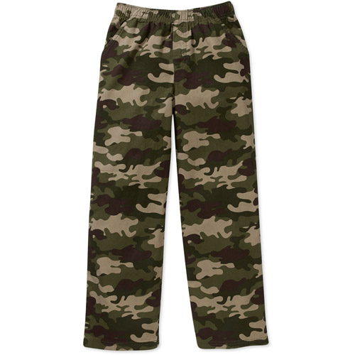 365 Kids From Garanimals Boys' Solid Woven Pants Sizes 4-8 (5, green camo) thumbnail