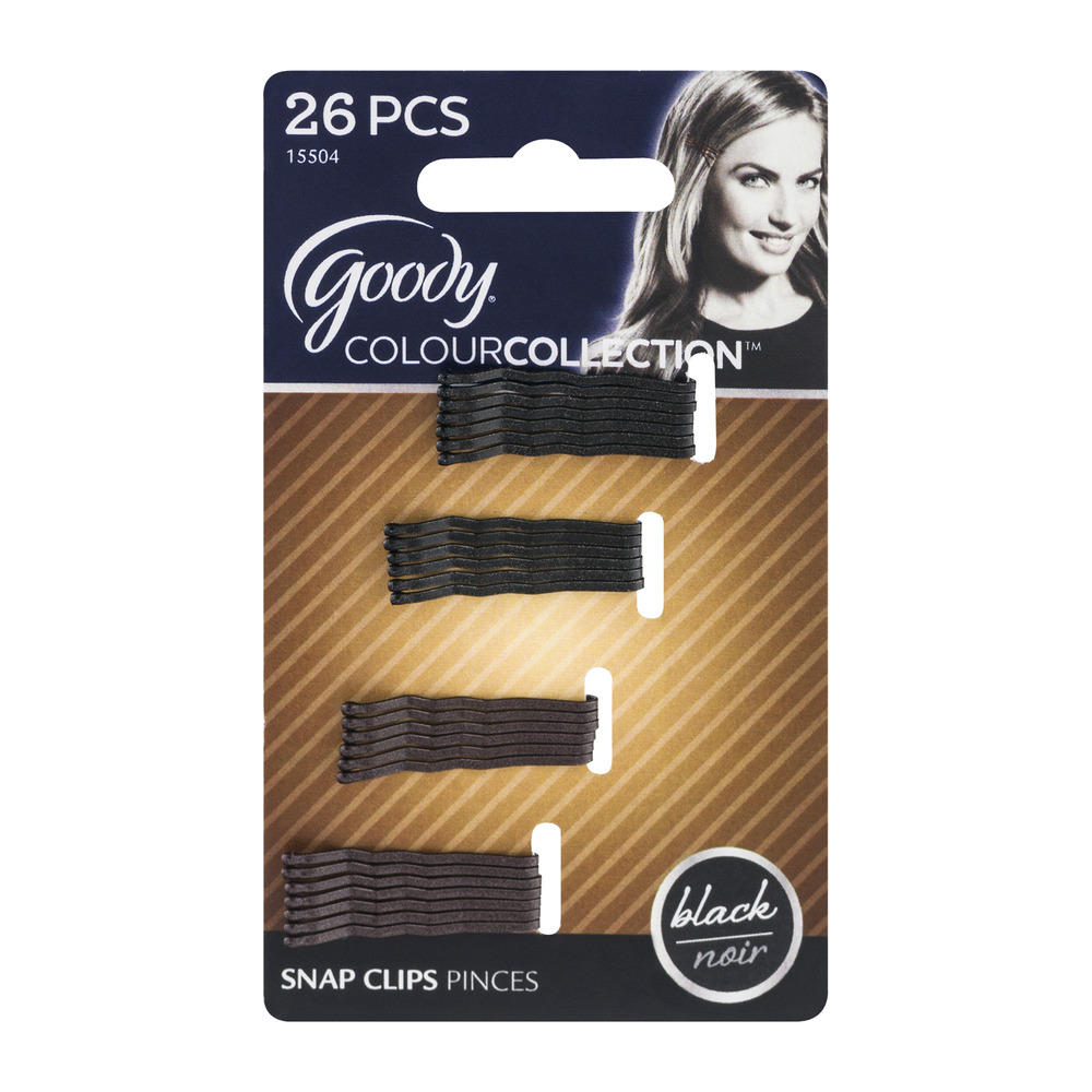 Goody ColourCollection Snap Clips Black - 26 CT