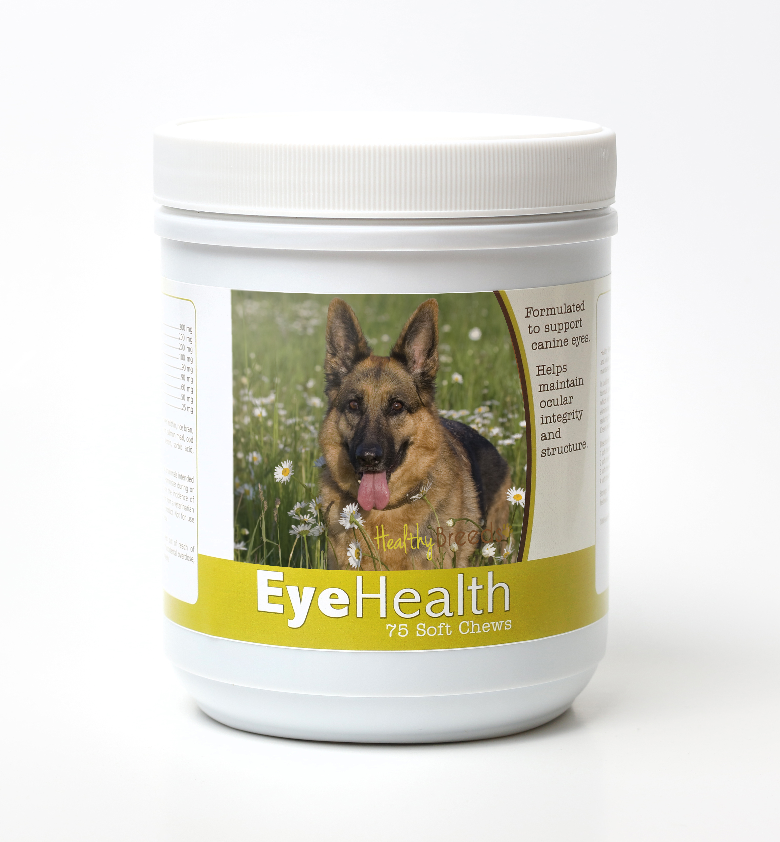 Healthy Breeds Dog Eye Health Support Soft Chews for German Shepherd 75 Count